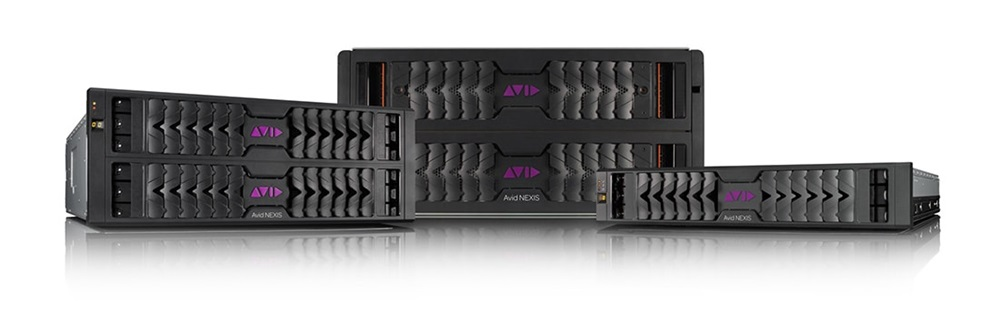 Family of Avid NEXIS video storage solutions hardware front profiles
