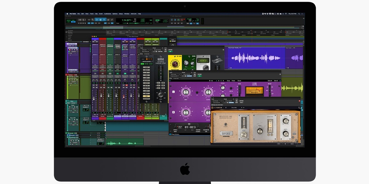 Pro Tools | Carbon audio interface hybrid engine at work within Pro Tools