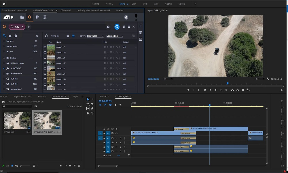 Search for and access platform-managed media directly in Adobe Premiere with the MediaCentral | Panel for Adobe Premiere Pro