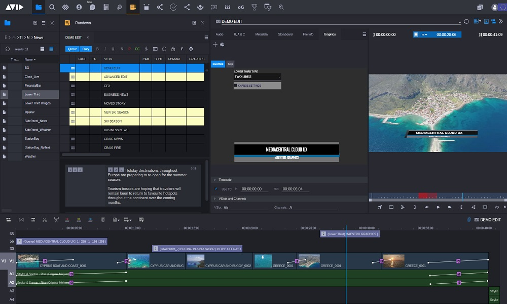 MediaCentral with Graphics