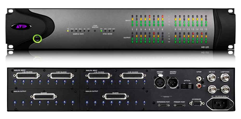 Front and rear image of Pro Tools HD IO