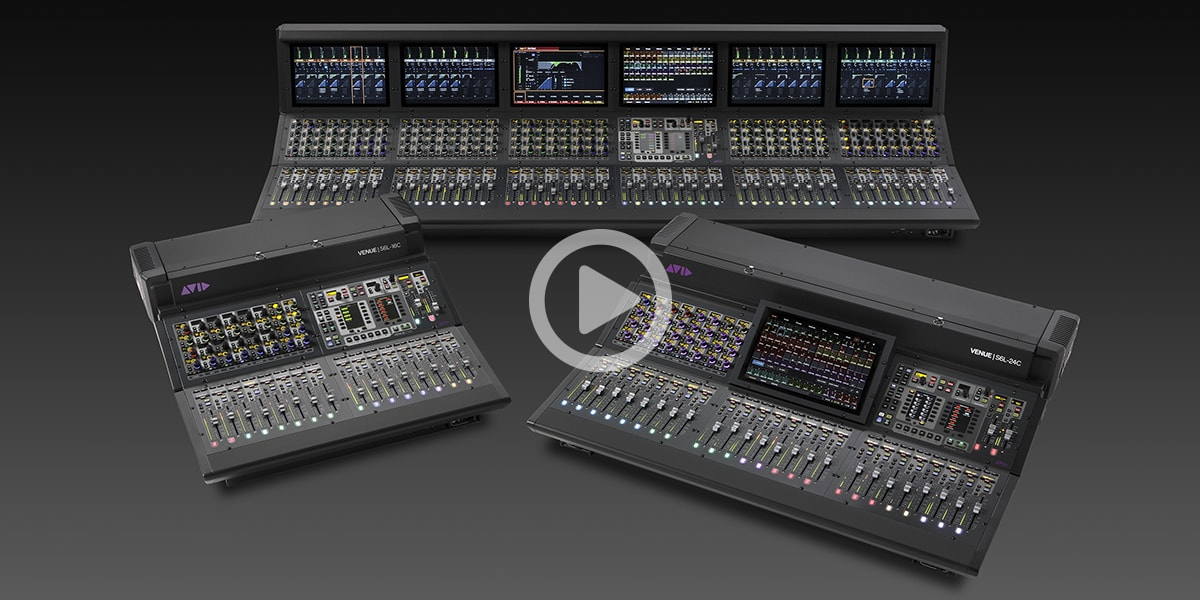Collage of Avid VENUE S6L digital mixers