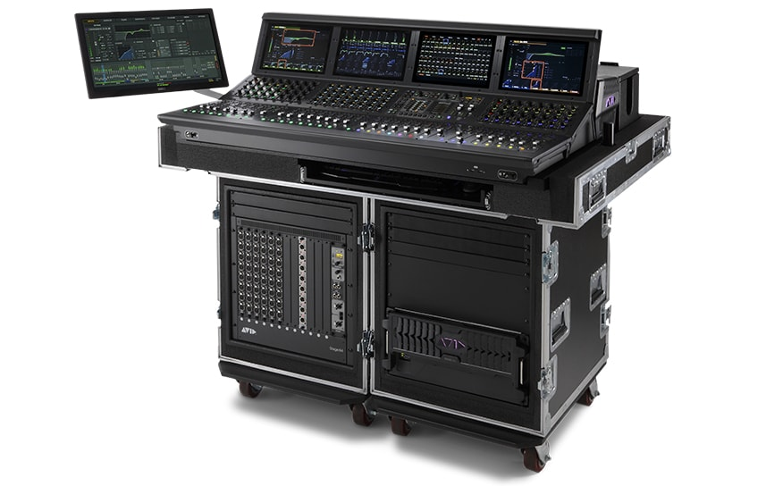 Avid VENUE S6L 32D digital mixer with 32 channel fader controls