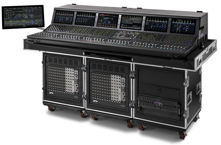 Avid VENUE S6L 48D digital mixer for large concerts and broadcast
