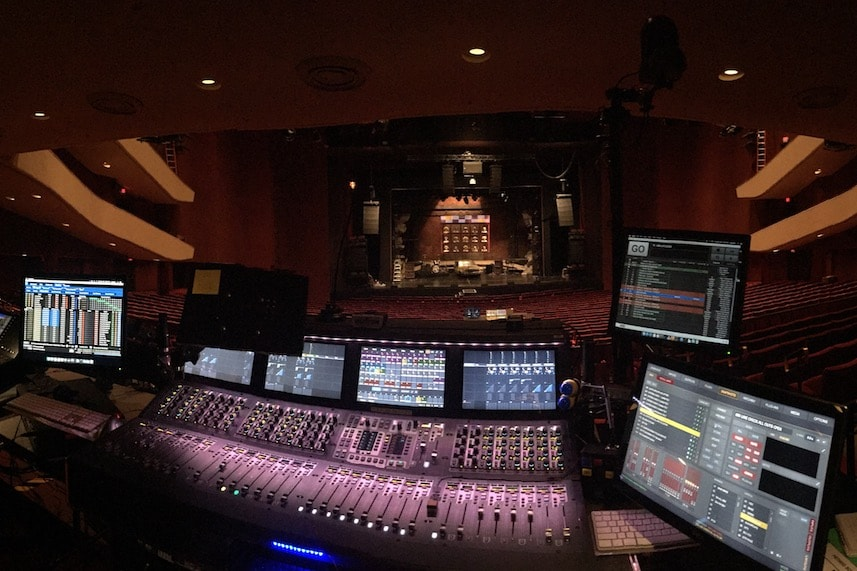 Avid VENUE S6L mixer console used on Hedwig Tour