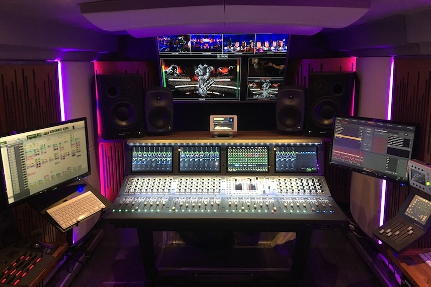 VENUE S6L mixer consoles used in Transmix OB van for tv production