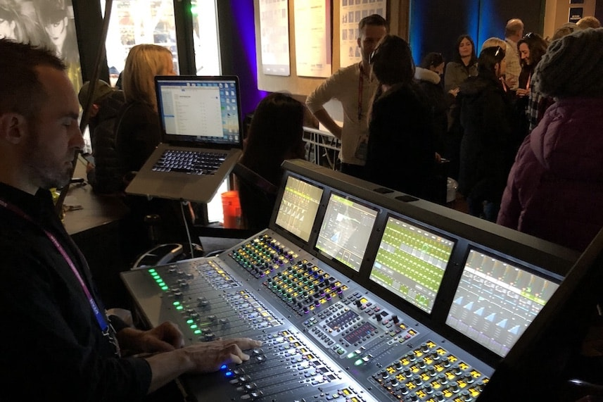 Sundance Film Festival using the Avid VENUE S6L mixer console