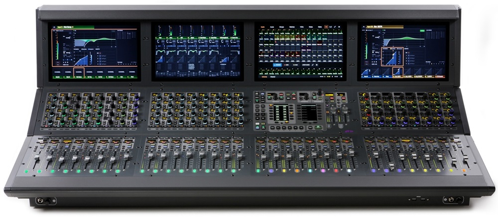 Front of Avid VENUE S6L system digital mixer for live sound