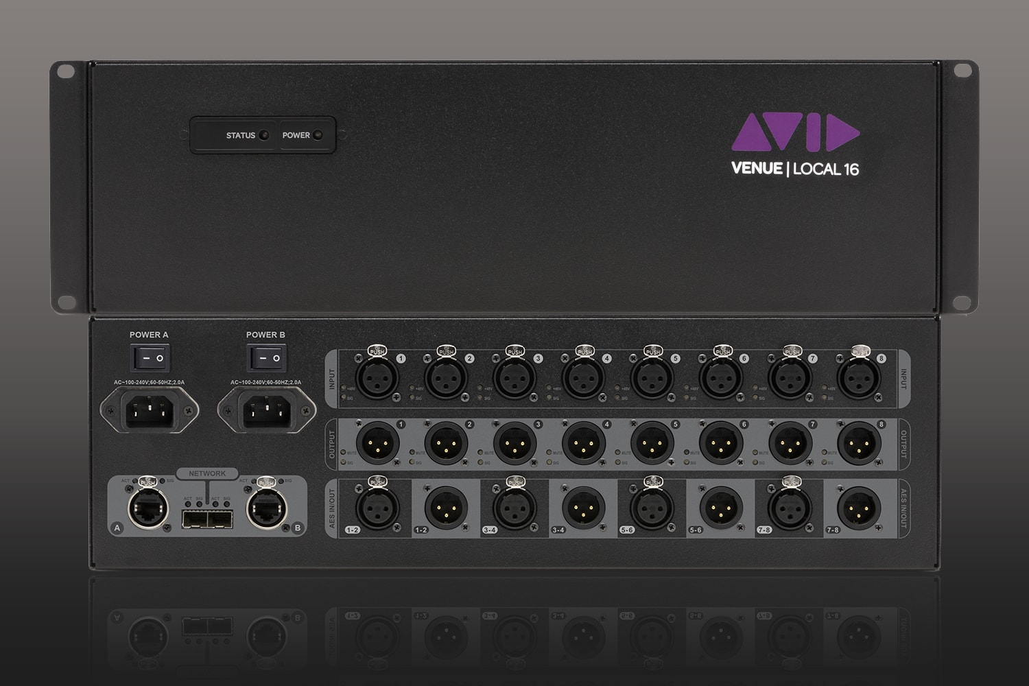 Local 16 IO rack for Avid VENUE S6L digital audio mixers