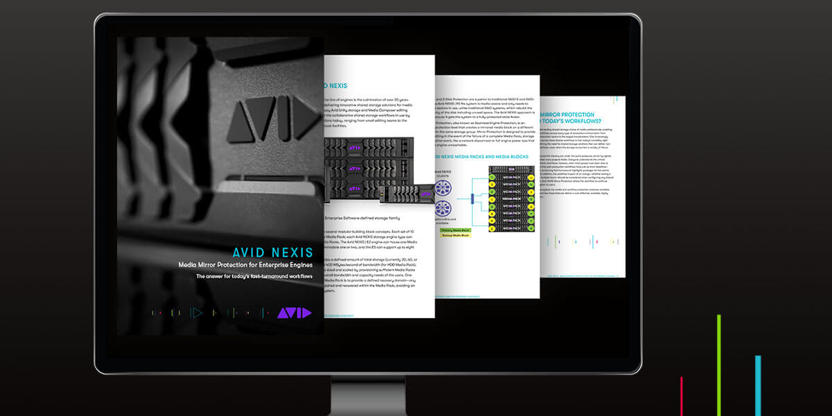 Avid NEXIS video storage for enterprises media mirror protection hardware family front