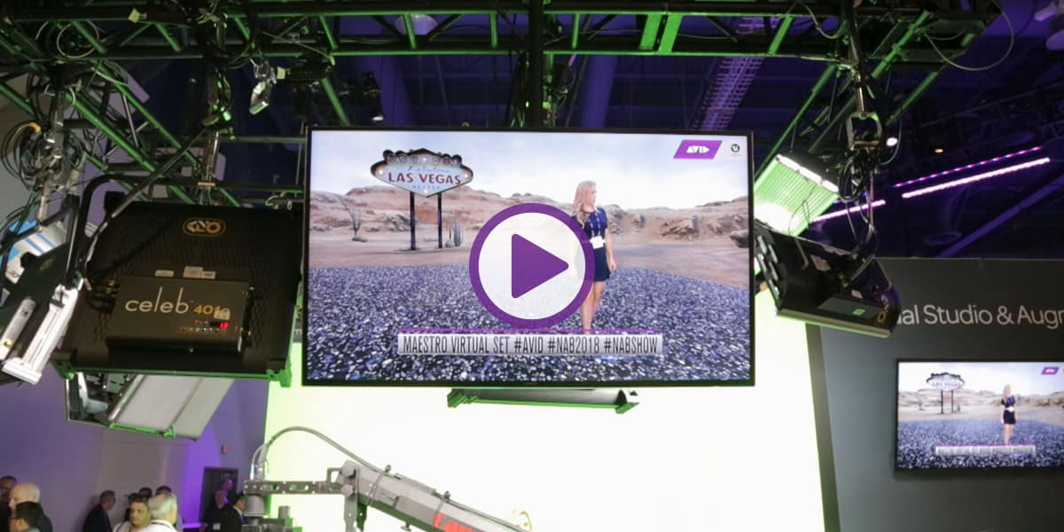 Infrared camera tracking anchor in studio green screen