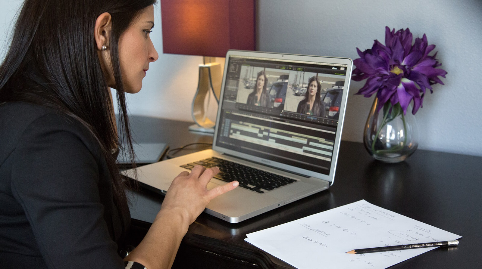 broadcast journalist edits video footage remotely