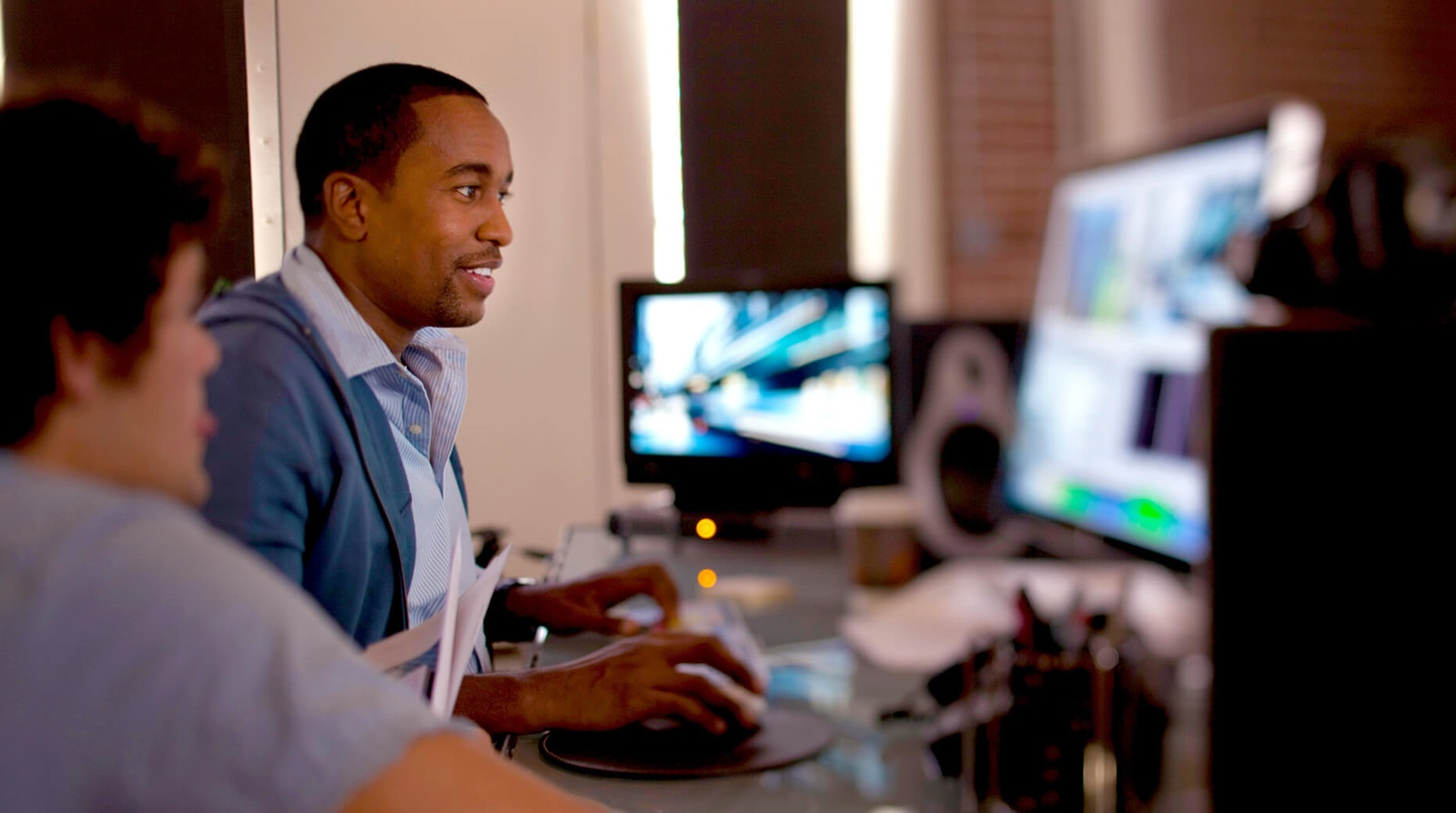 editors using asset manager in post production