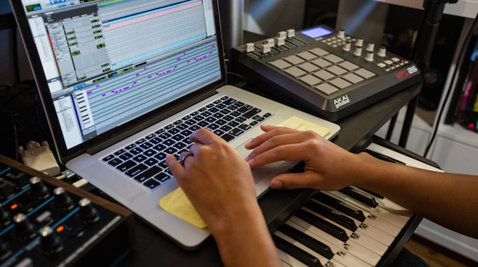 music production using AoIP