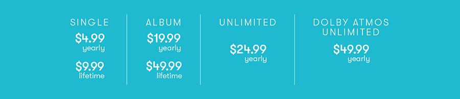 AvidPlay pricing chart