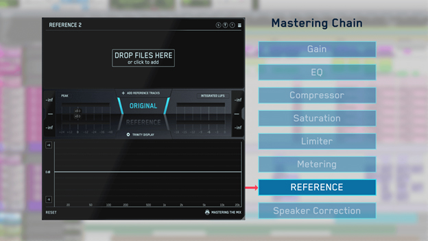 drag and drop reference tracks into REFERENCE plugin