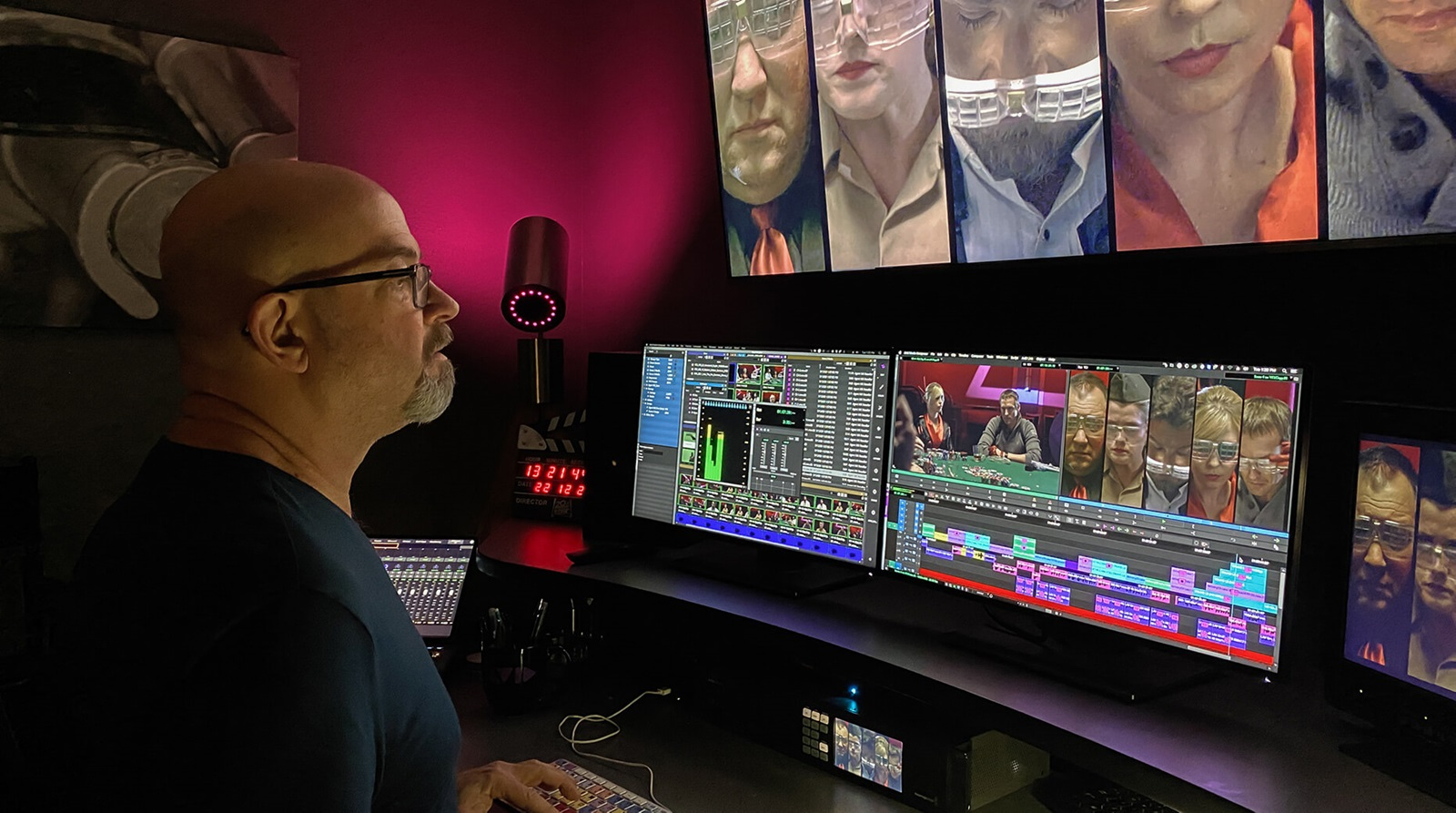 editing video on Media Composer 2021.3