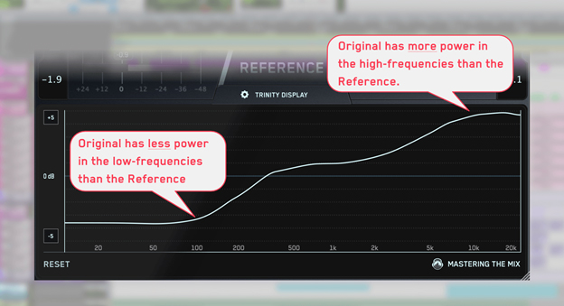 frequency balance in REFERENCE plugin
