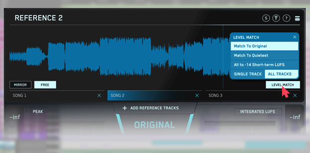 level match feature in REFERENCE plugin