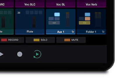 control folder tracks in Pro Tools using Control app
