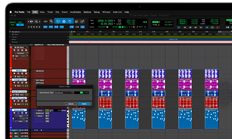 space clips in Pro Tools