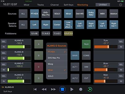 screenshot of Pro Tools Control app