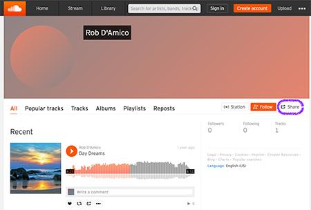 copy artist ID in SoundCloud