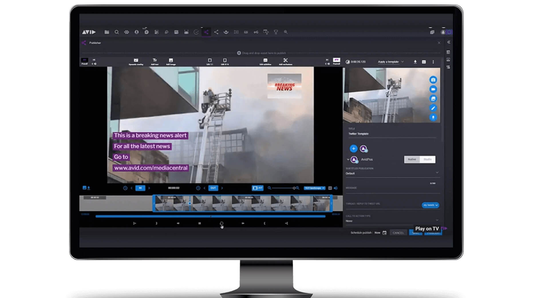 MediaCentral | Publisher GUI