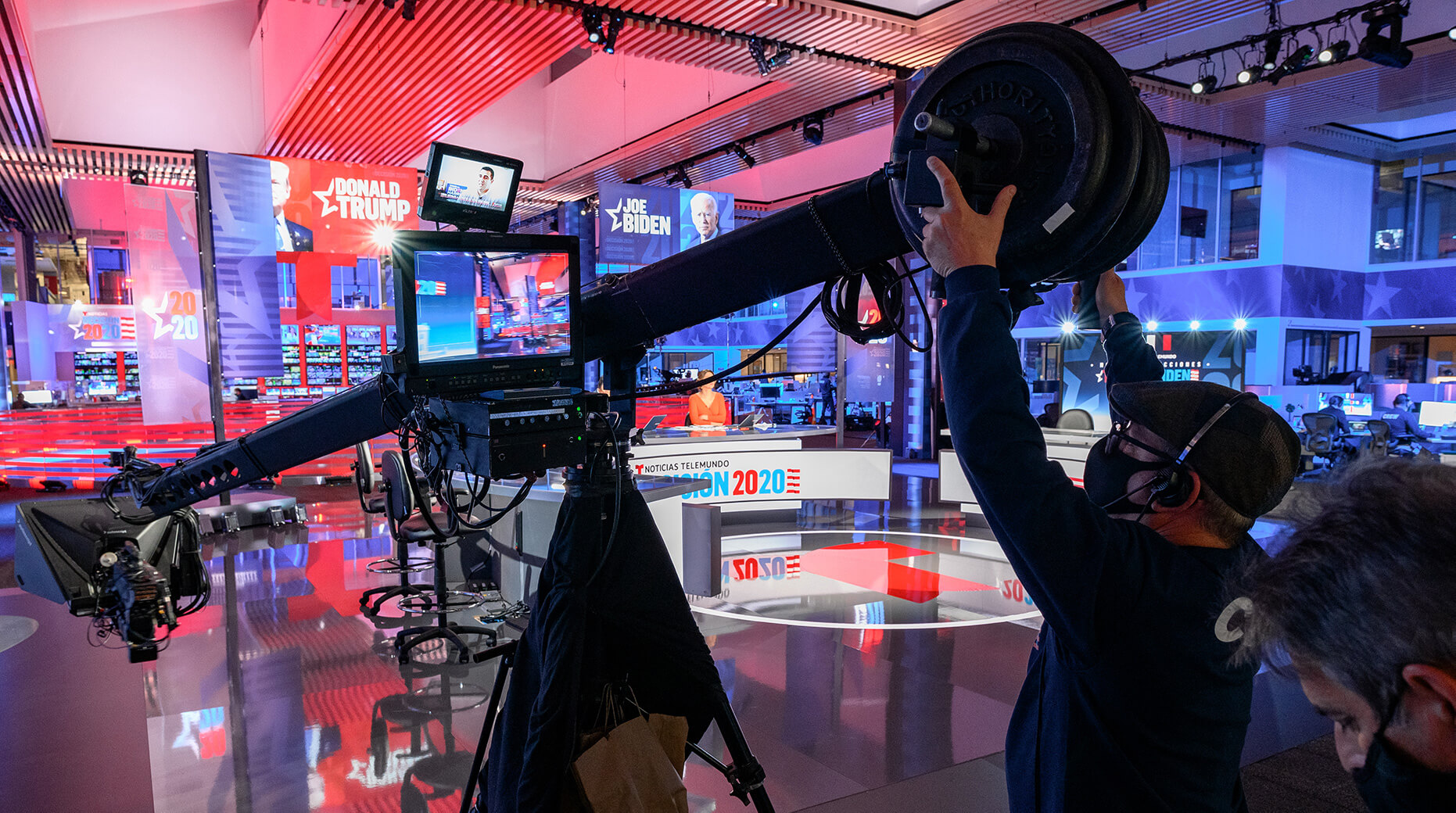 behind the scenes at Telemundo on election night 2020
