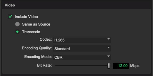 Pro Tools UI showing working with HEVC