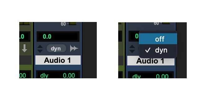 switch off track voicing in Pro Tools