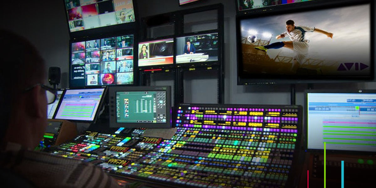 Maestro FastServe broadcast servers in use control room
