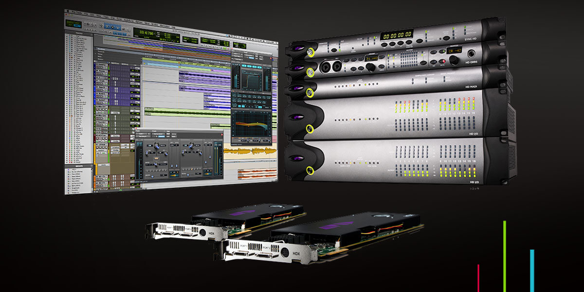 Pro Tools HDX audio cards and other Pro Tools audio hardware interfaces with UI